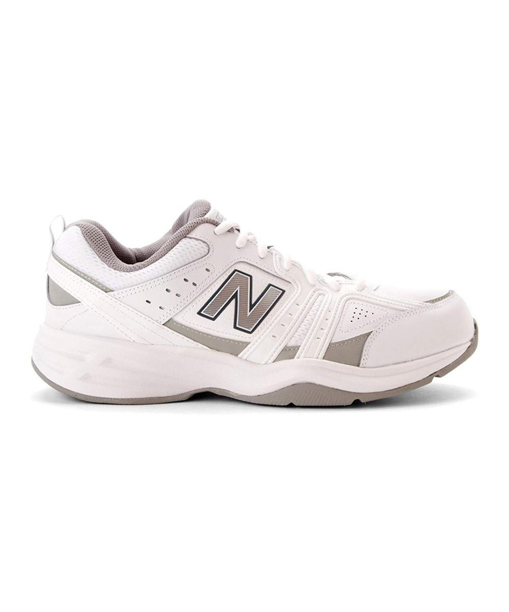 15212b99c3 New Balance White & Silver MX409 Training Sneaker - Men