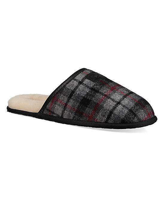 667a4d5f426 UGG® Gray Tartan Scuff Sheepskin-Lined Slipper - Men