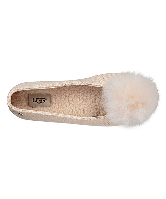 c9837037ffe UGG® Cream Andi Skeepskin Pom-Pom Slipper - Women