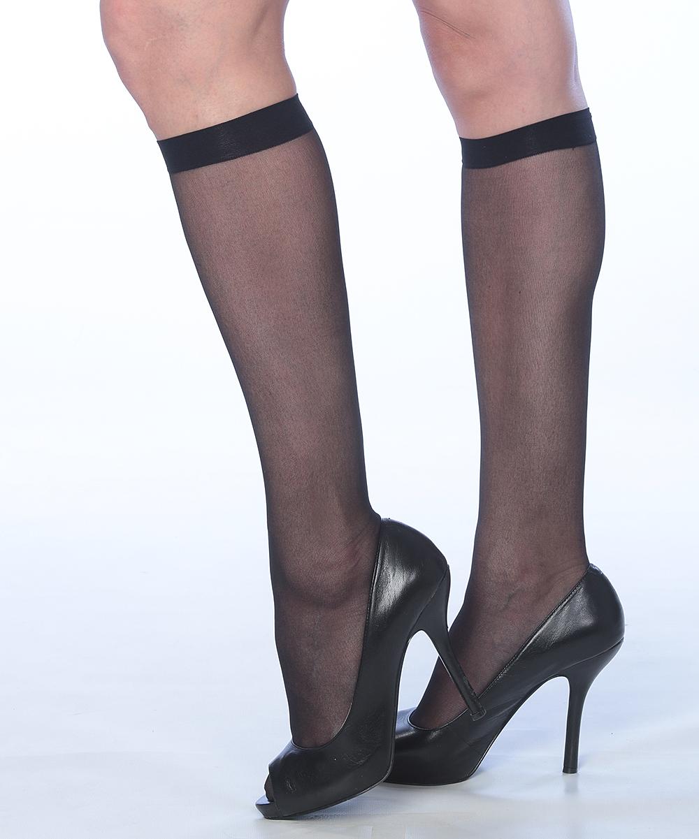 90c2655e0 all gone. Black Sheer Knee-High Socks Set - Women