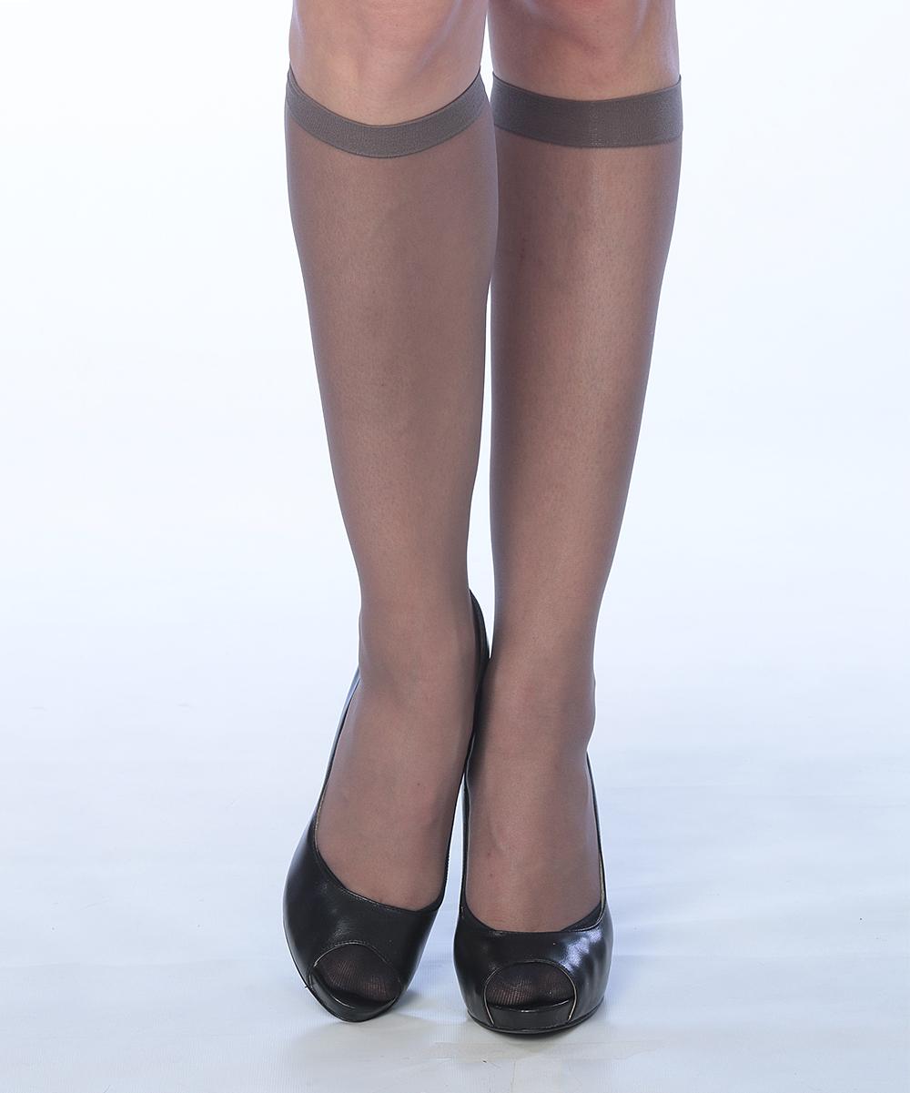 5f1ae28e9 ... Womens OFF BLACK Off-Black Sheer Knee-High Socks Set - Alternate Image 4