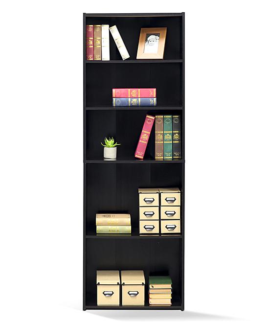 Furinno Cinnamon Cherry Five Shelf Bookcase Zulily