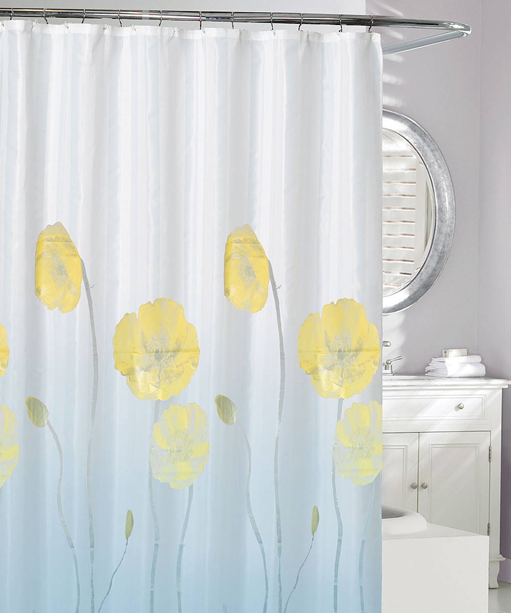 5 Viewing Frost Yellow Nymphaea Shower Curtain