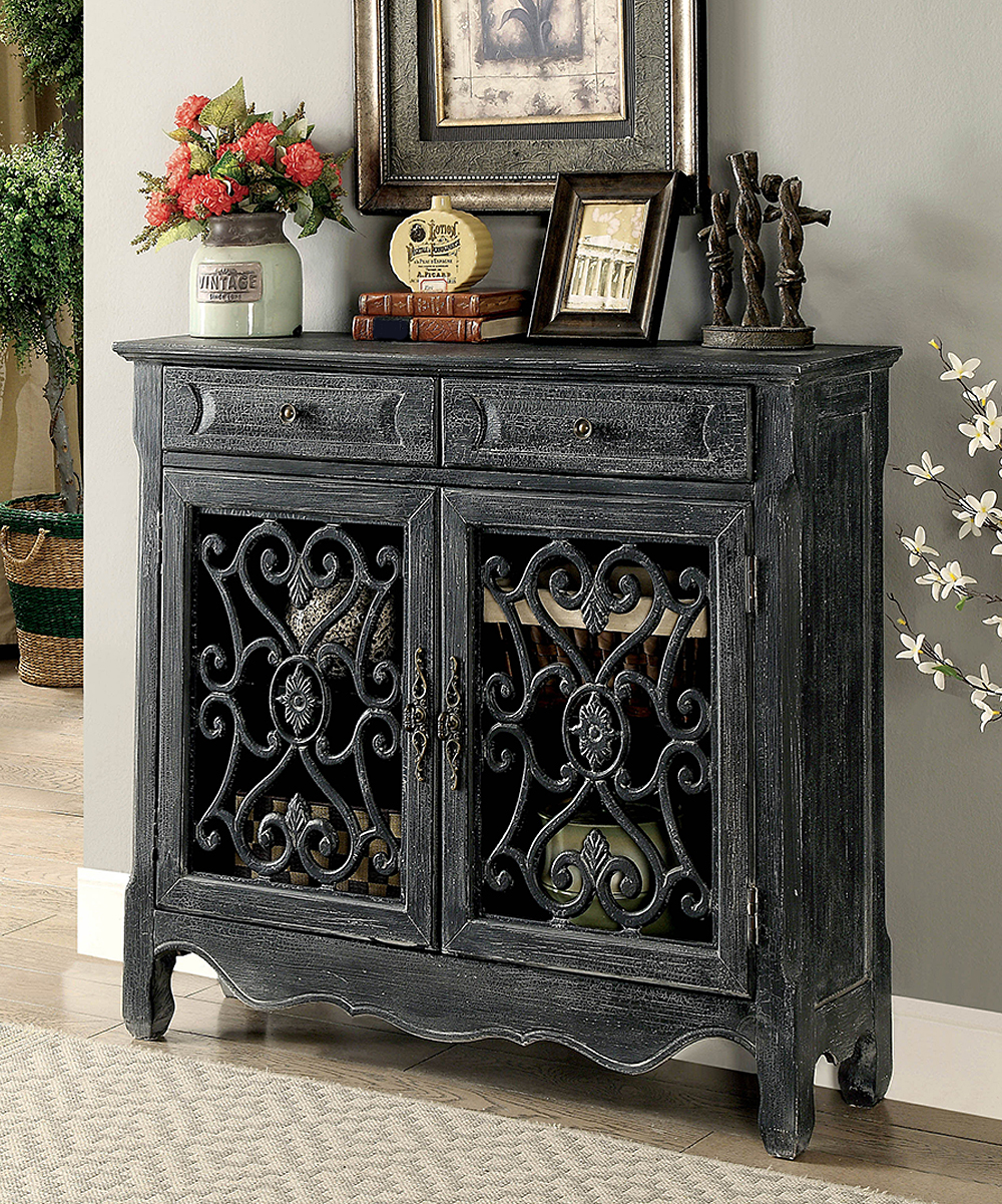 All gone antique black risa traditional cabinet