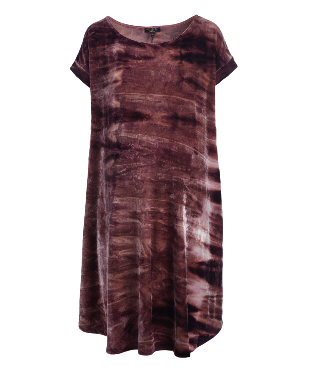 f007fa4a1b58b Mom & Co Mauve Faded Velvet Maternity Shift Dress | Zulily