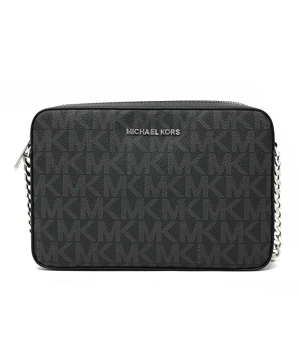 Black Signature Jet Set East West Crossbody Bag