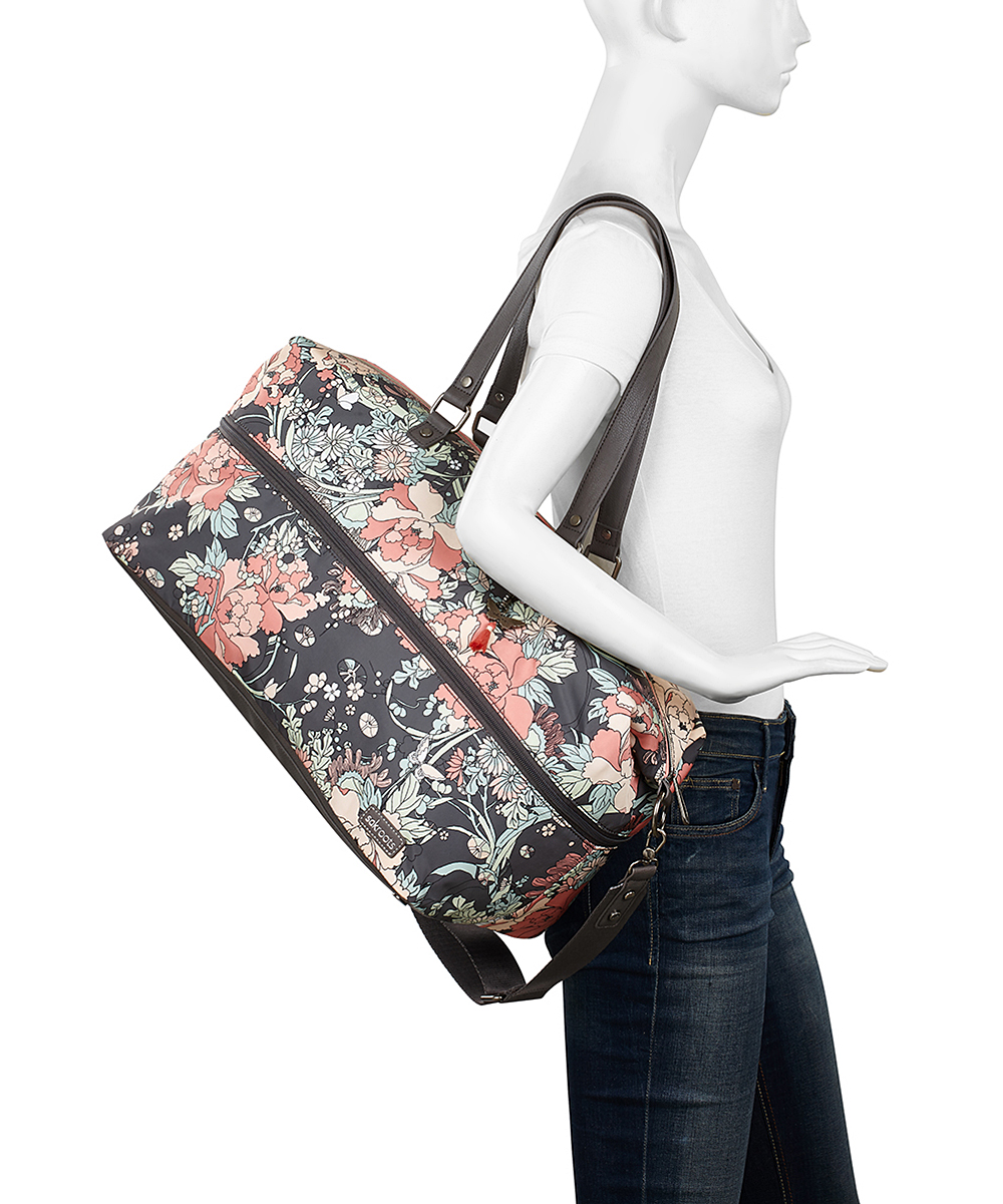 a2d911a5c356 ... Womens CHARCL FP Charcoal Floral Artist Circle Duffel - Alternate Image  5