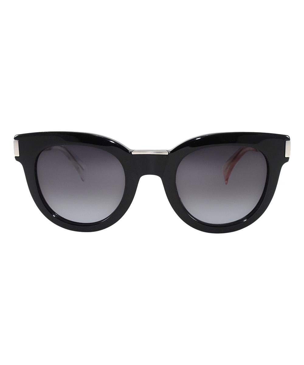 f6546ec2f834 ... Womens Grey Gradient Gray Gradient & Black Matte Palladium Cat-Eye  Sunglasses - Alternate Image