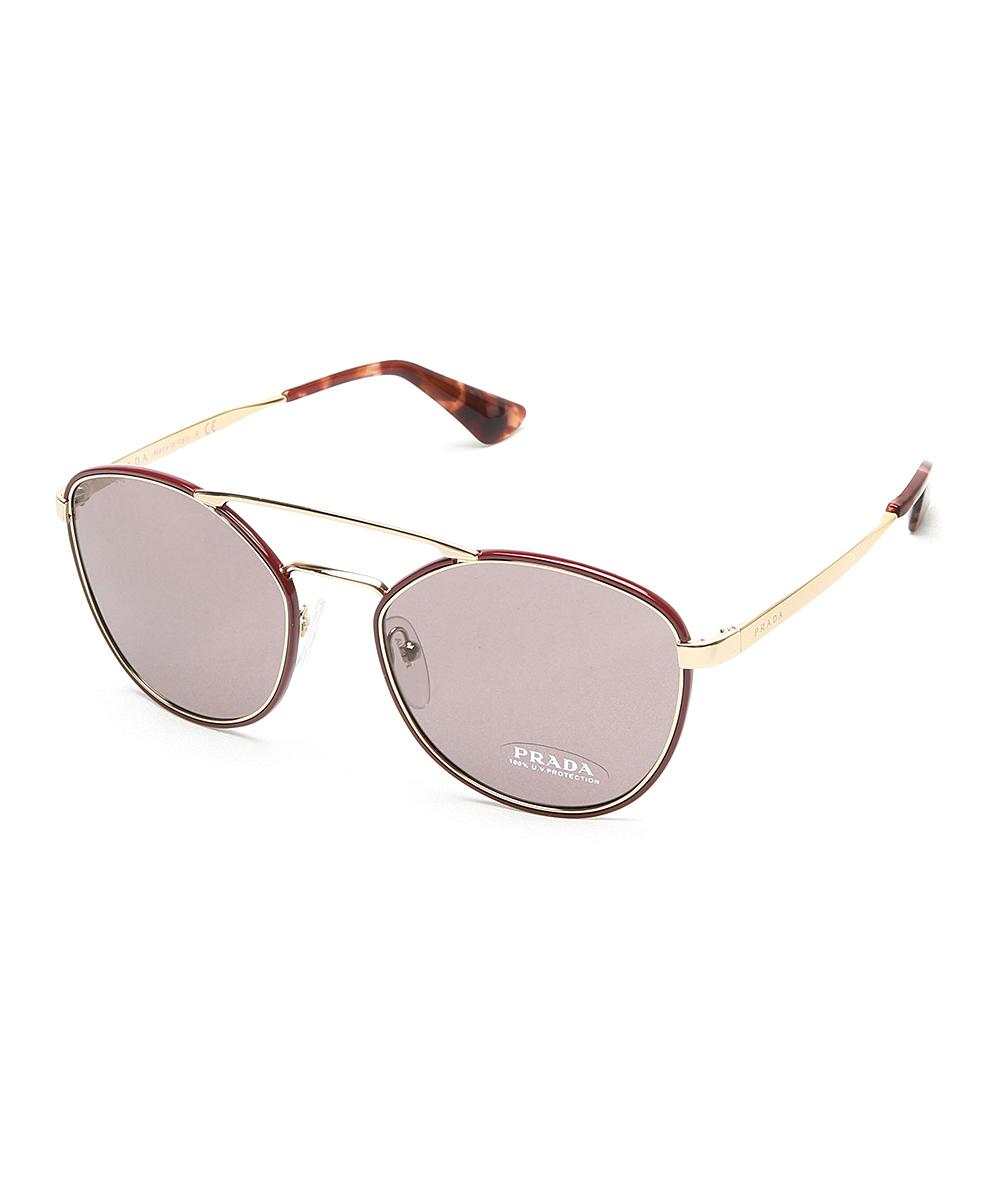 890bfd4bd8fe2 ... aliexpress prada burgundy tortoise modified aviator sunglasses zulily  4355f 90426