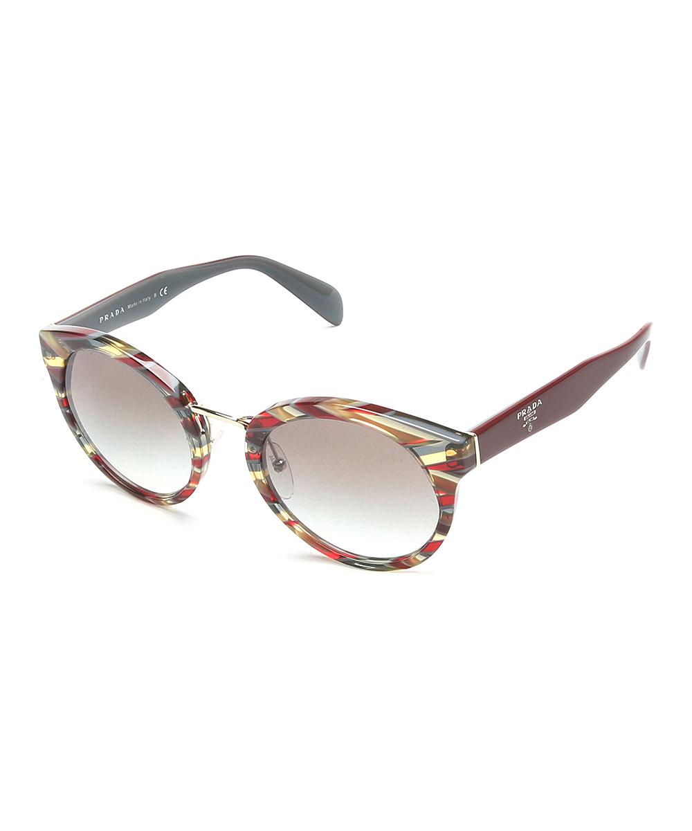 5ef9fbd56fdd Prada Red & Gray Abstract Cat-Eye Sunglasses | Zulily