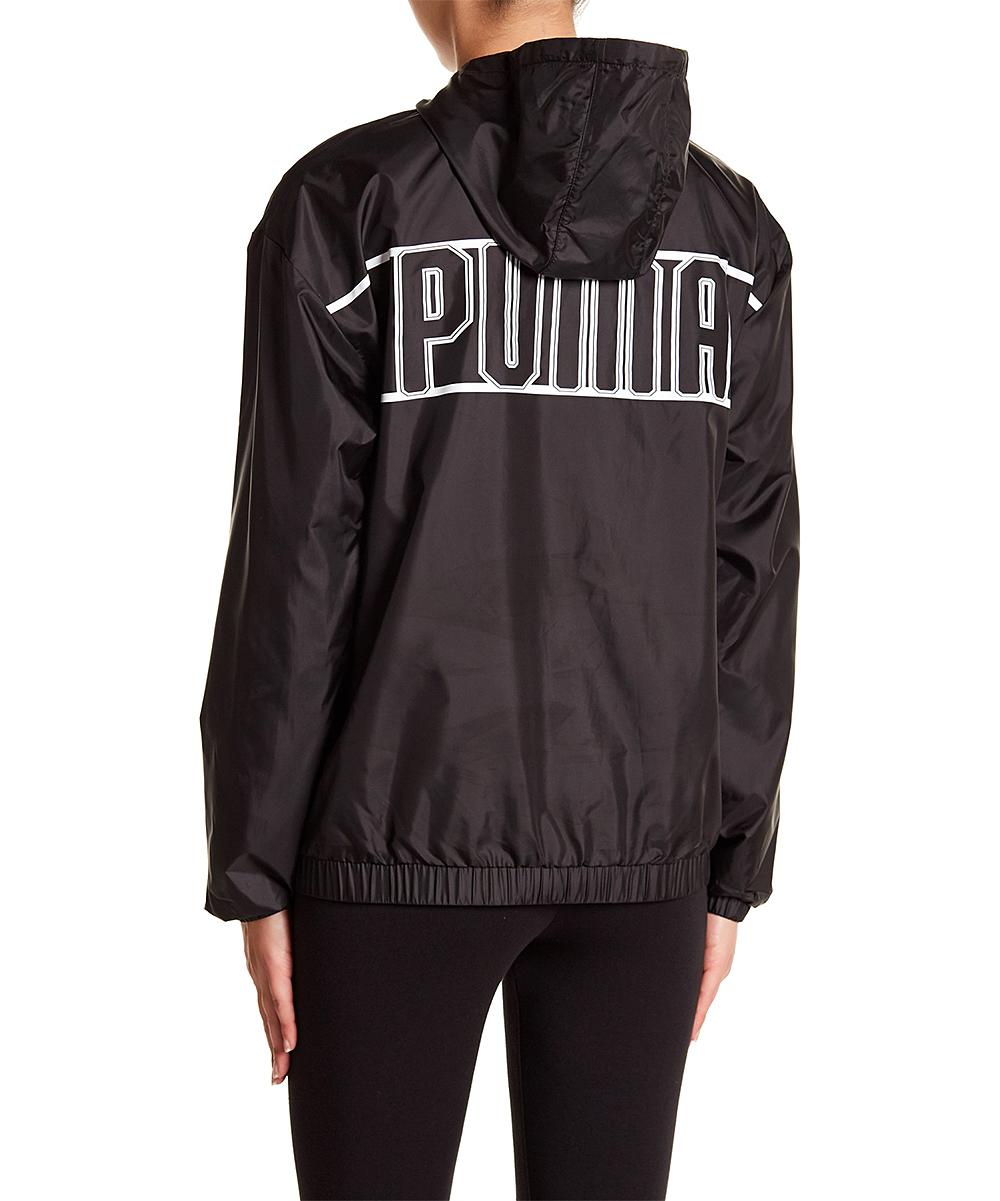 ... Womens Puma Black Black Spark Three-Quarter Zip Hooded Jacket -  Alternate Image 3 ... 0f7e37e9c3