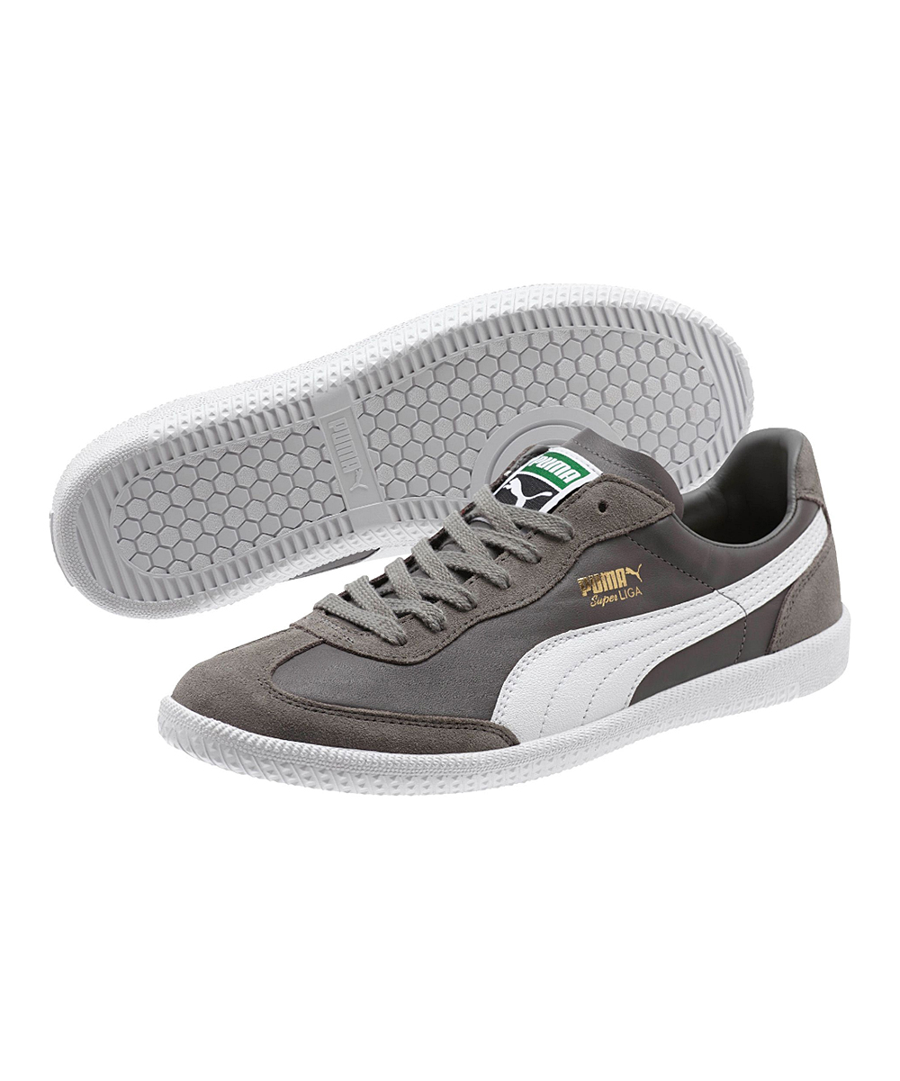 7c97a791fae PUMA Steel Gray   White Super Liga OG Retro Sneaker - Men