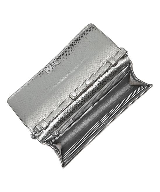f314ff5f9579 all gone. Light Pewter Mott Metallic Snake-Embossed Leather Crossbody Bag