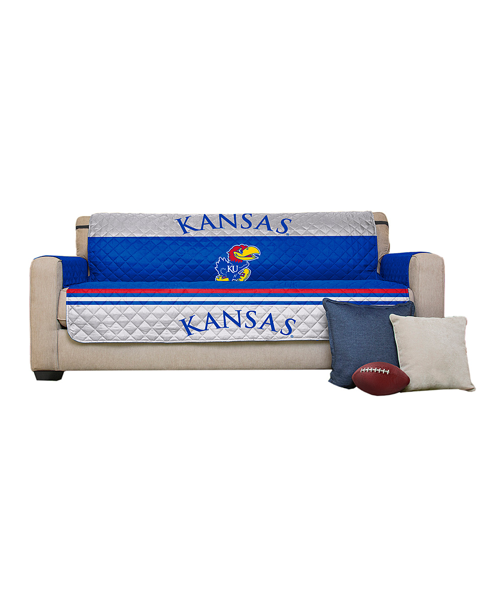 ... Womens UNIVERSITY OF KANSAS Kansas Jayhawks Sofa Reversible Furniture  Cover - Alternate Image 2 f4f19f310b