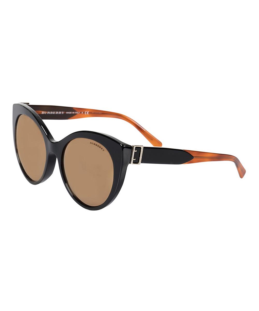 ff526964e6 Burberry Black   Brown Two-Tone Cat-Eye Sunglasses