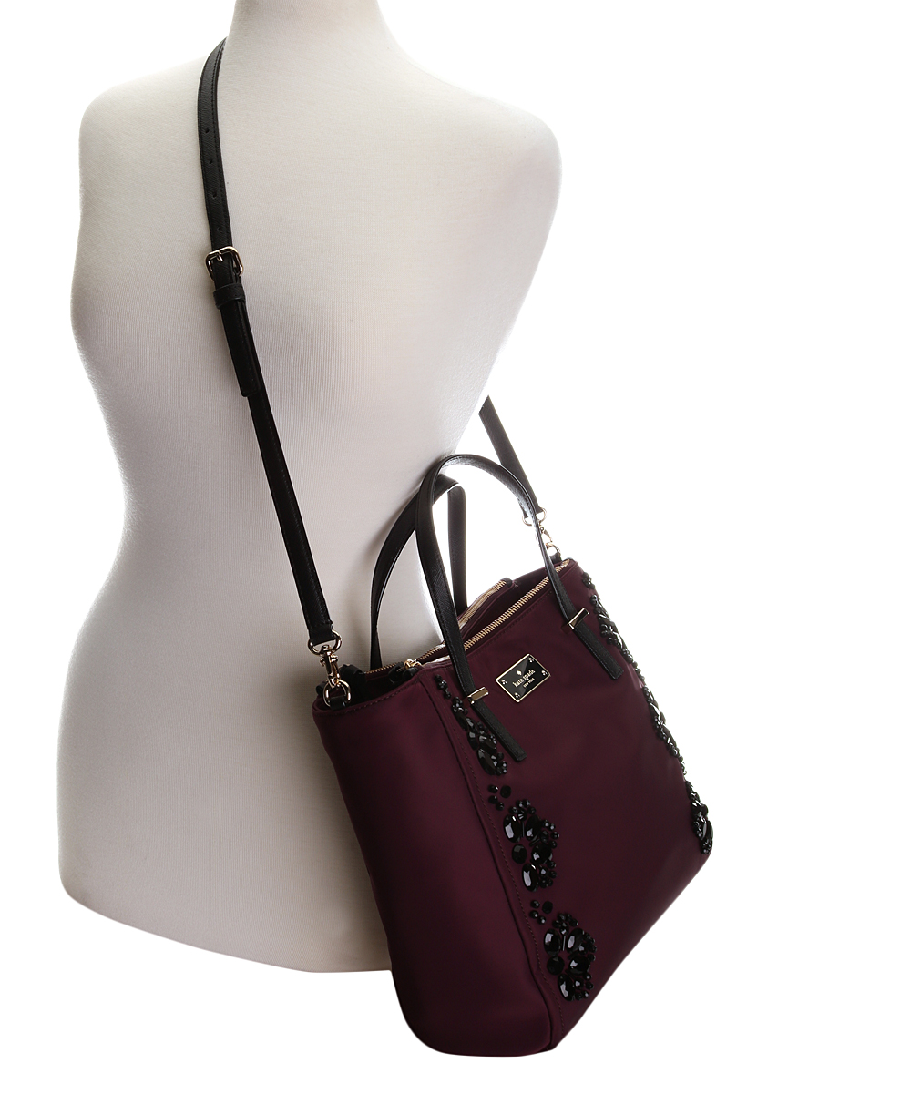 ba8d50bf68bf ... Womens DEEP PLUM Deep Plum Embellished Alyse Wilson Road Tote -  Alternate Image 4