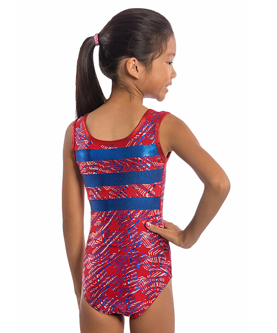 d9ddf27a1 Lizatards Red   Blue Stars Leotard
