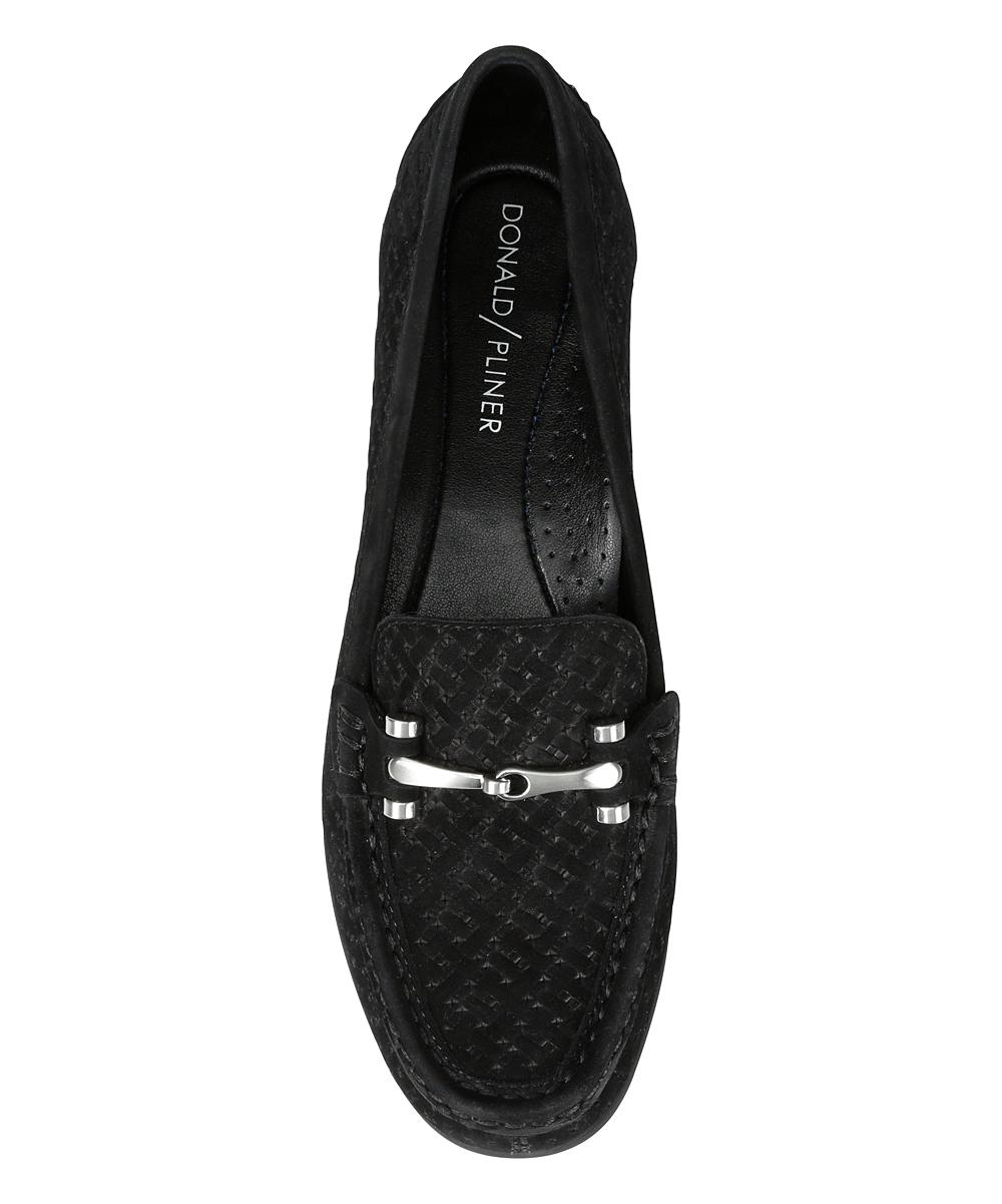 5ea9a766296 ... Womens BLACK Black Filo Leather Loafer - Alternate Image 3 ...