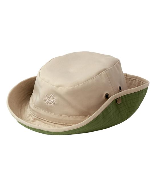 946304f5 UV Skinz Tan & Army Green Voyager Bucket Hat | Zulily