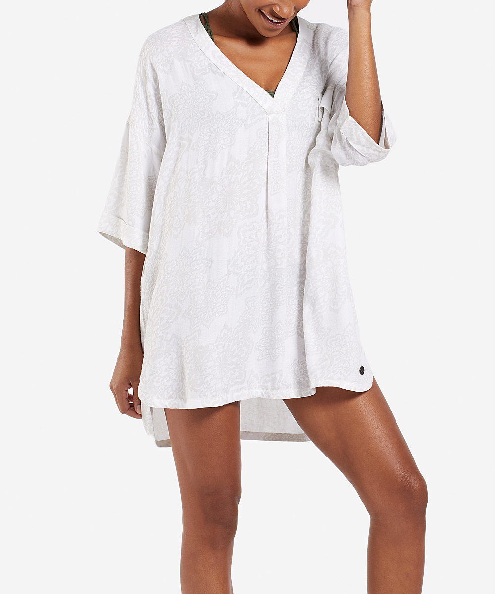 15b31ef049 love this product Cloud White Mandala Hello Sunshine V-Neck Cover-Up - Women