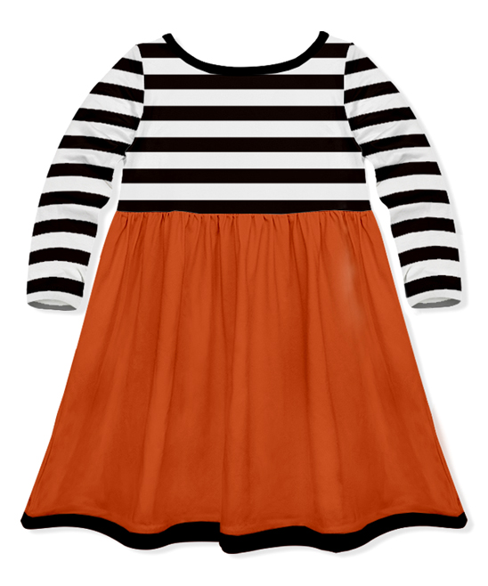 087cd5feae love this product Black & White Stripe Witch Feet A-Line Dress - Toddler &  Girls