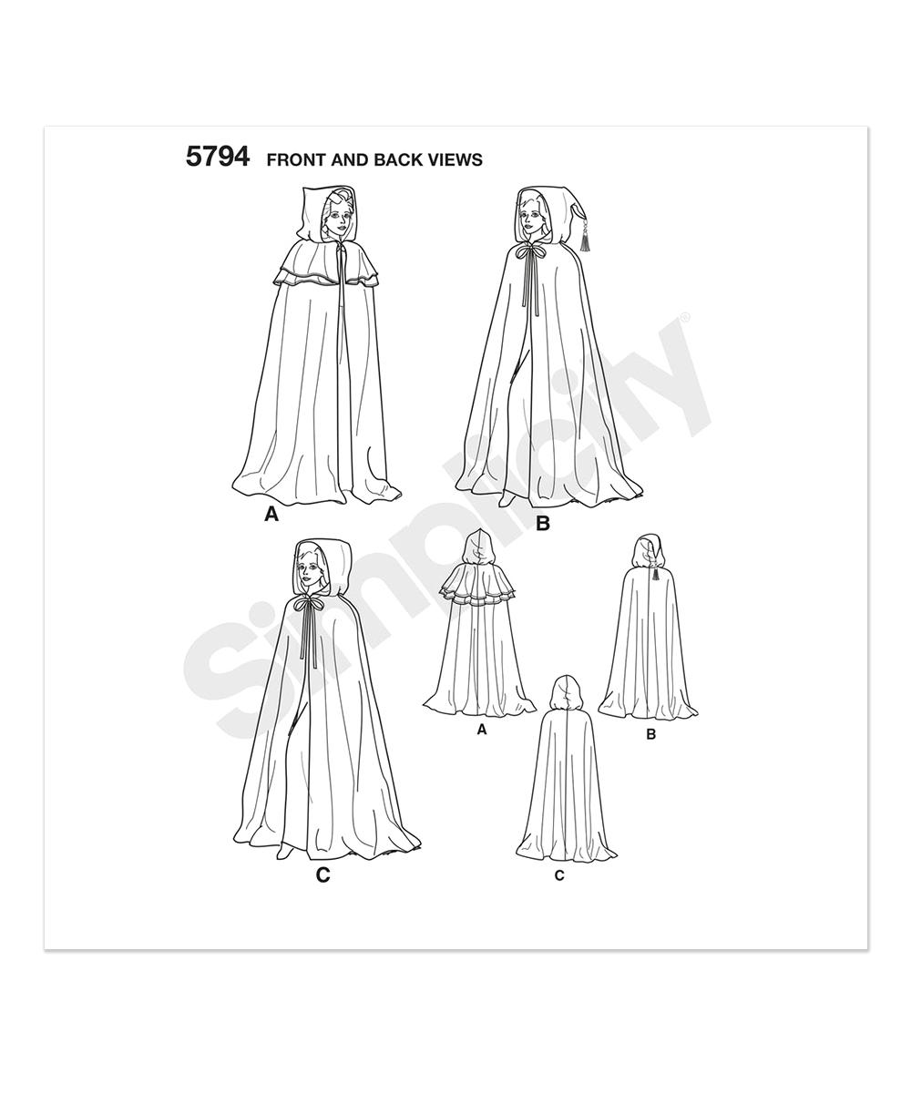 Simplicity Patterns 5794 Cape Sewing Pattern - Women | zulily