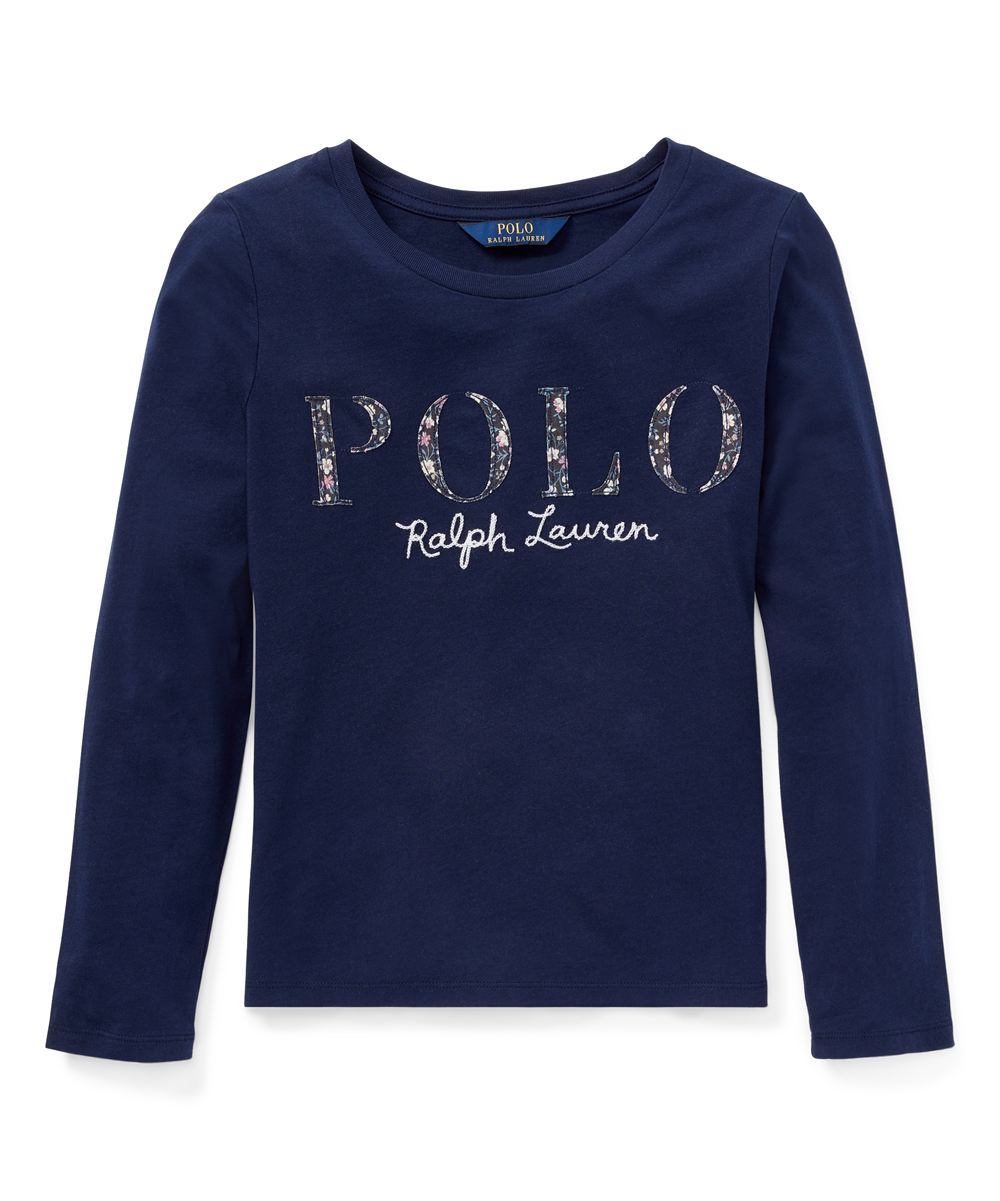 Ralph Lauren French Navy Floral Polo Jersey Tee Girls Zulily