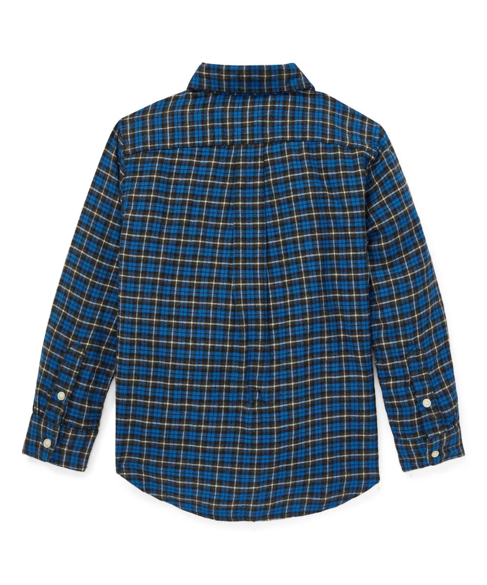 e0e82c933 Ralph Lauren Blue & Gray Plaid Cotton Twill Shirt - Boys   Zulily