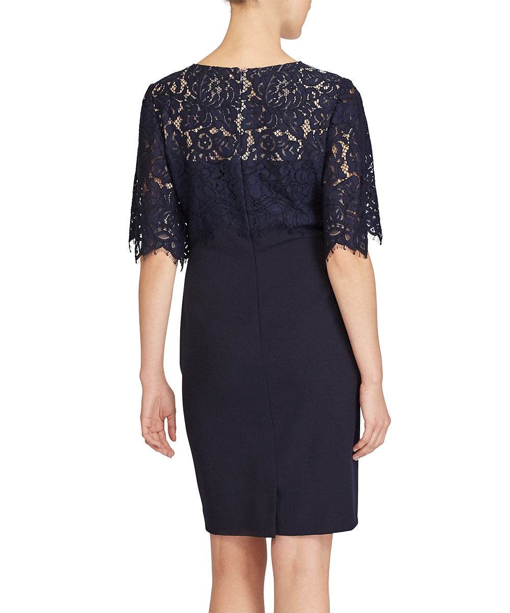 ab6b4d640b0 Navy Lace Overlay Womens Dress - Gomes Weine AG