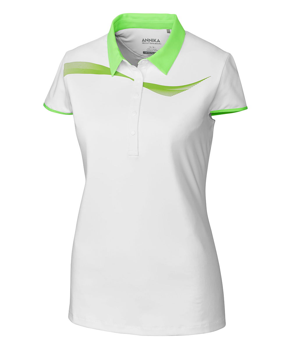 Cutter Buck Green White Draft Polo Plus Zulily