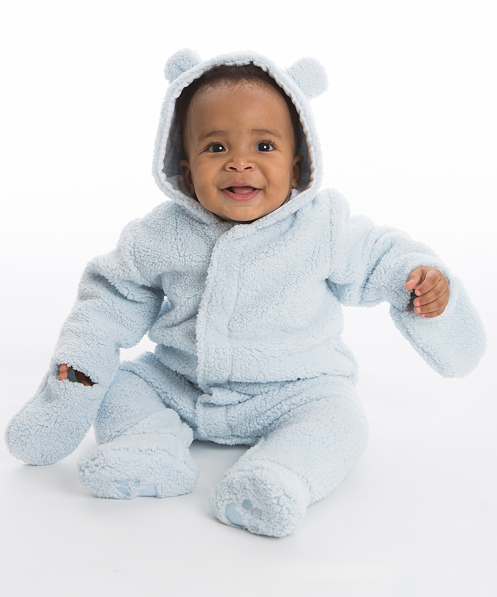 2eaf4e33d Magnetic Me by Magnificent Baby Blue Sorbet Bears Fleece Magnetic-Close  Hooded Jacket - Infant