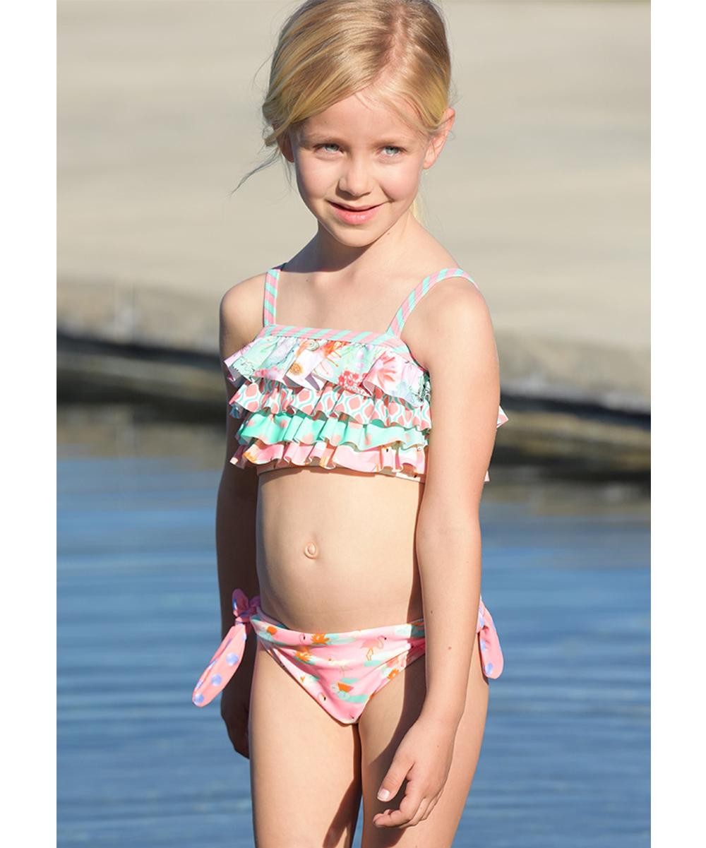 8fb1bbec79a85 ... Girls Pink Flamingos Jump On In Swim Bottoms - Alternate Image 2 ...