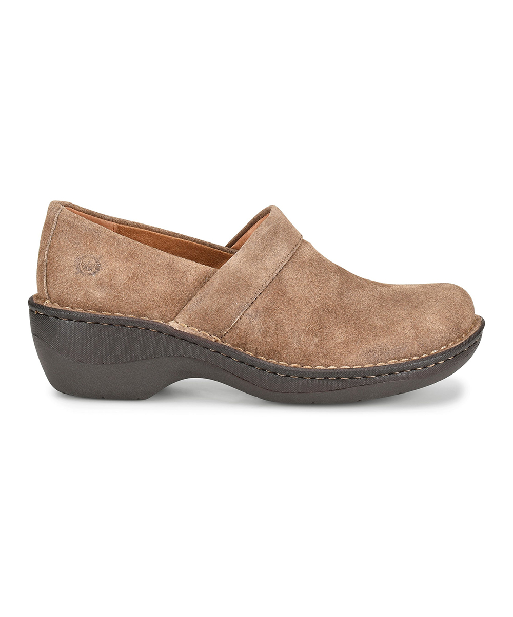 børn taupe distressed toby suede clog women zulily