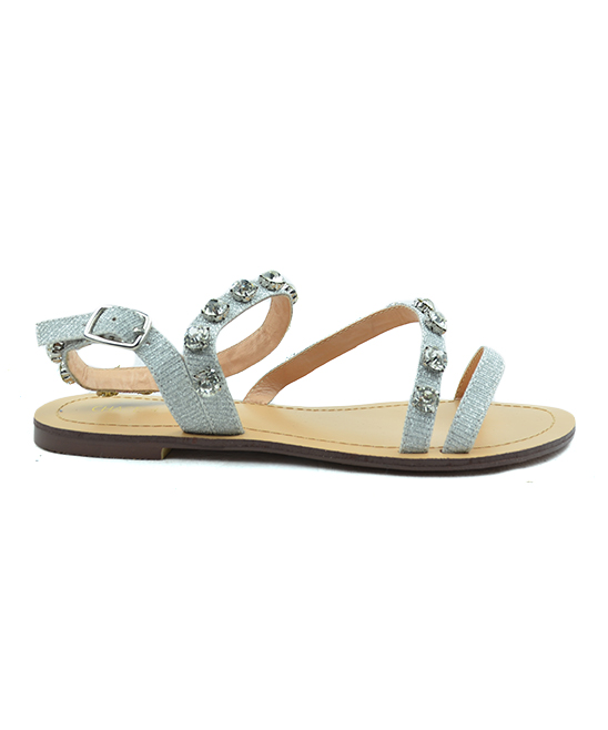 ad7a706983ed Chase   Chloe Nude Glitter Asher Gladiator Sandal - Women