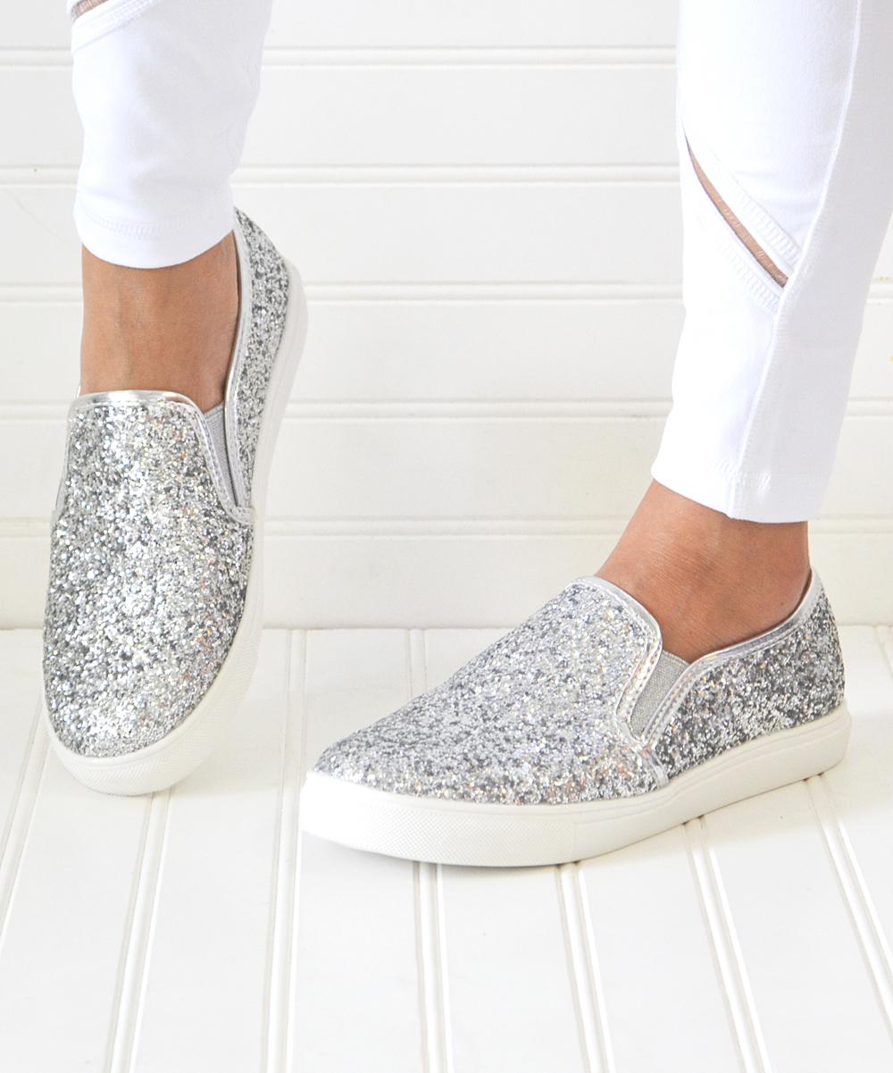 Mata Shoes Silver Glitter Layla Slip-On Sneaker - Women  7a2eec0c5