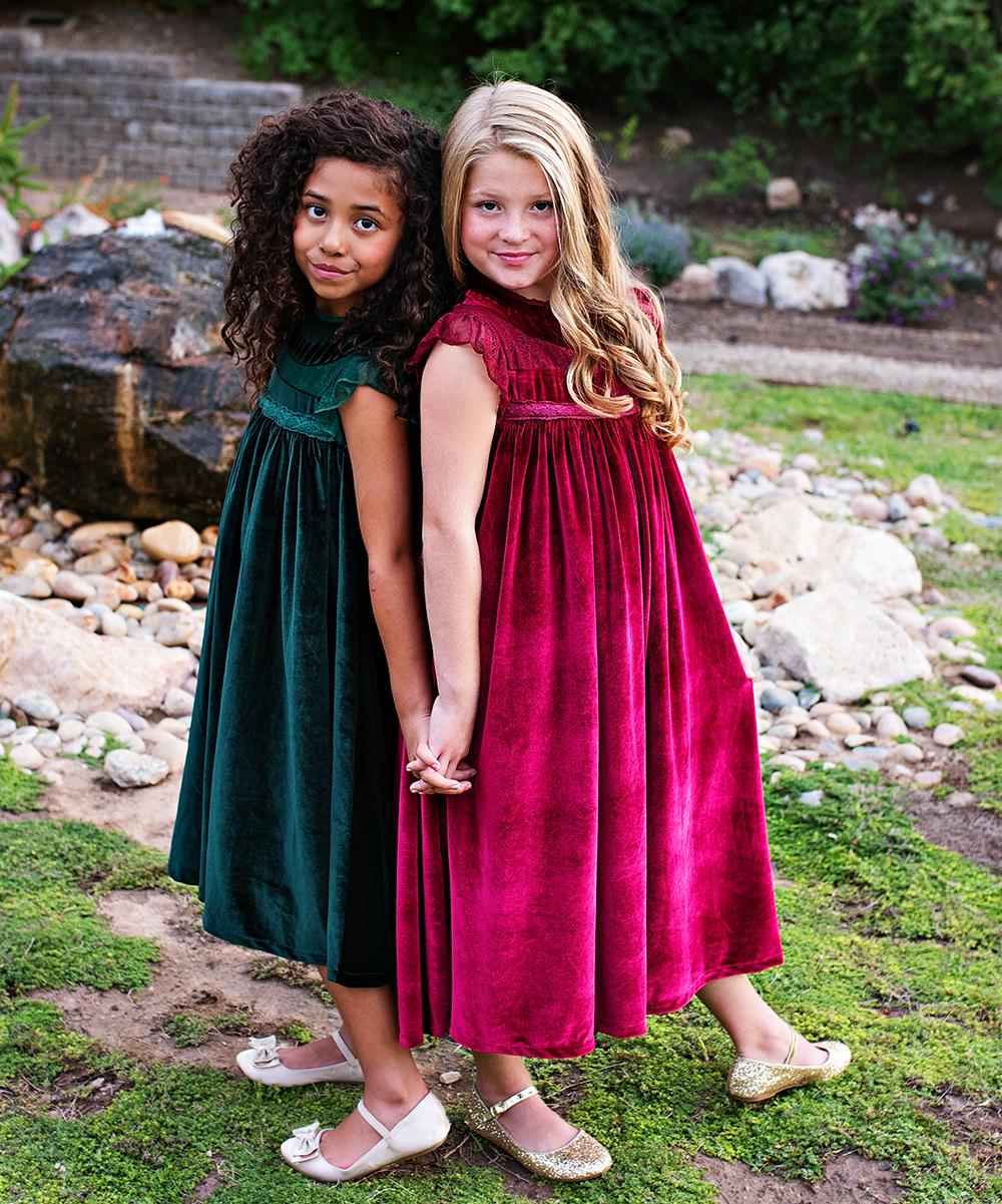 0df23677bafd ... Girls 6-Emerald Green Emerald Green Velvet Magnolia Shift Dress -  Alternate Image 4 ...