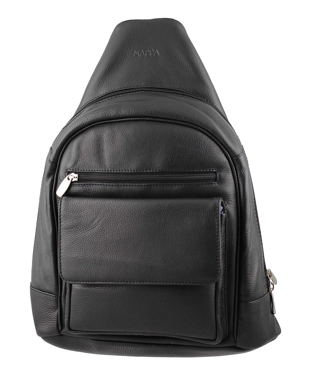 262d9f9a NAPPA Black Chloe Leather Backpack