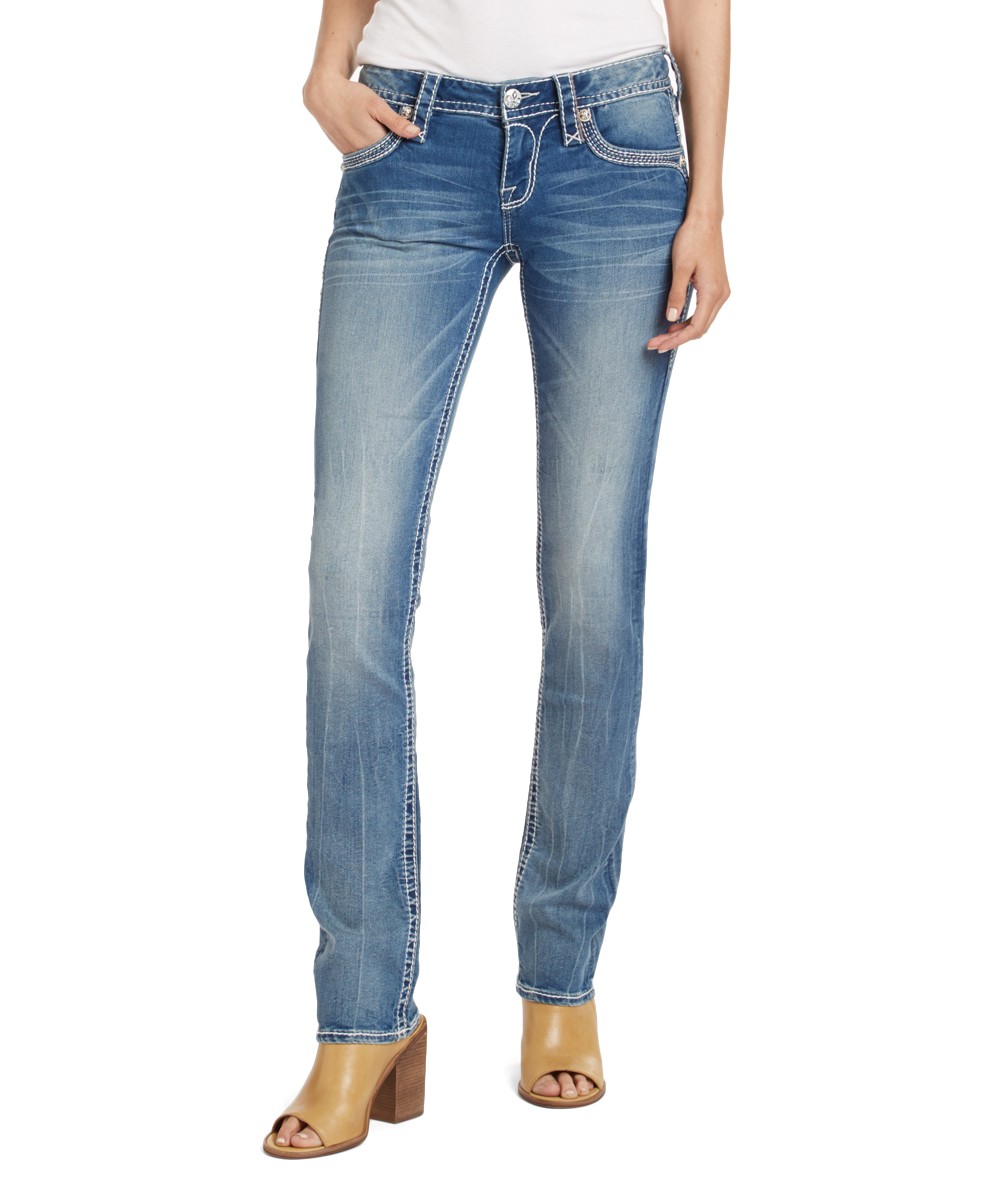 d31adba8d9c69 ... Womens BLUE Blue Jen Straight-Leg Jeans - Alternate Image 3