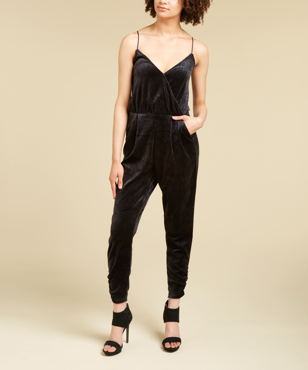 dfc3e39ee230 Juicy Couture Pitch Black Velour Sleeveless Jumpsuit - Women