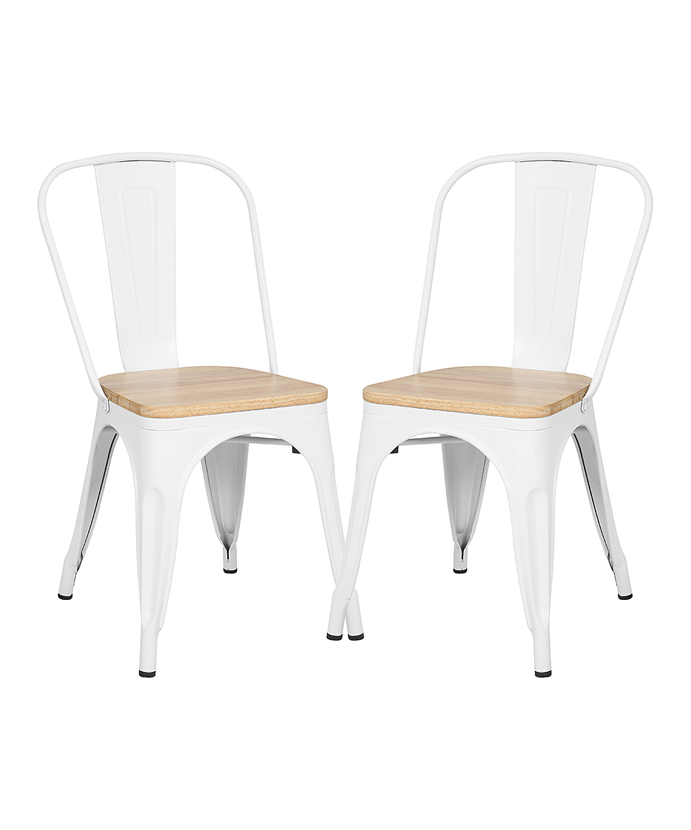 White & Oak Trattoria Side Chair - Set of Two
