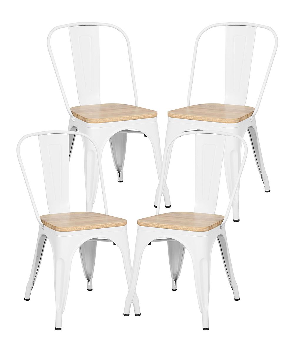 White & Oak Trattoria Side Chair - Set of Four