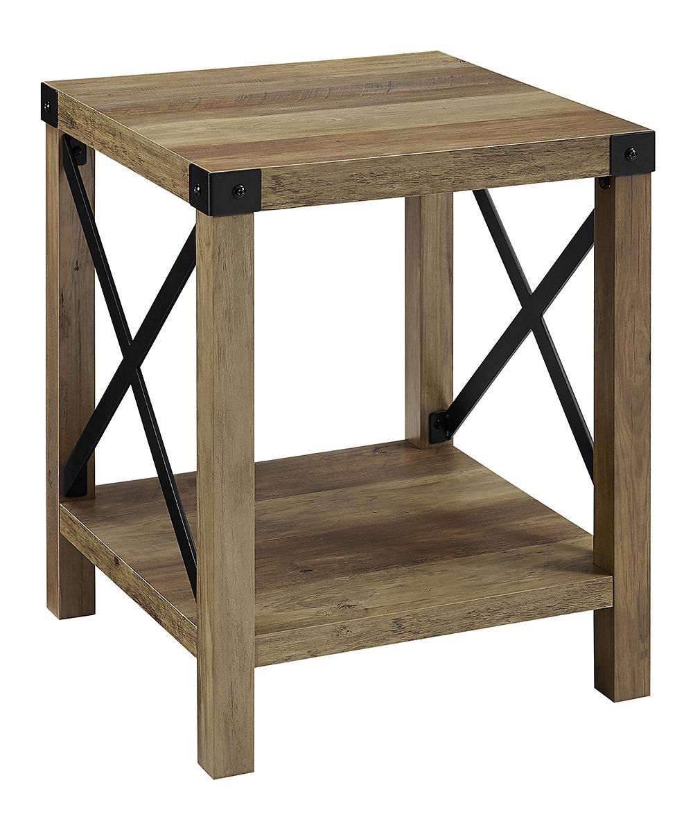 Walker Edison Rustic Side Table   Zulily