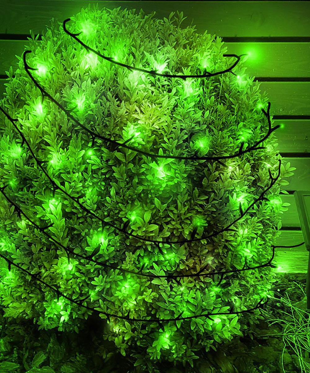 Solar Led Christmas Lights.Touch Of Eco Green Solar Led 125 Bulb Light String