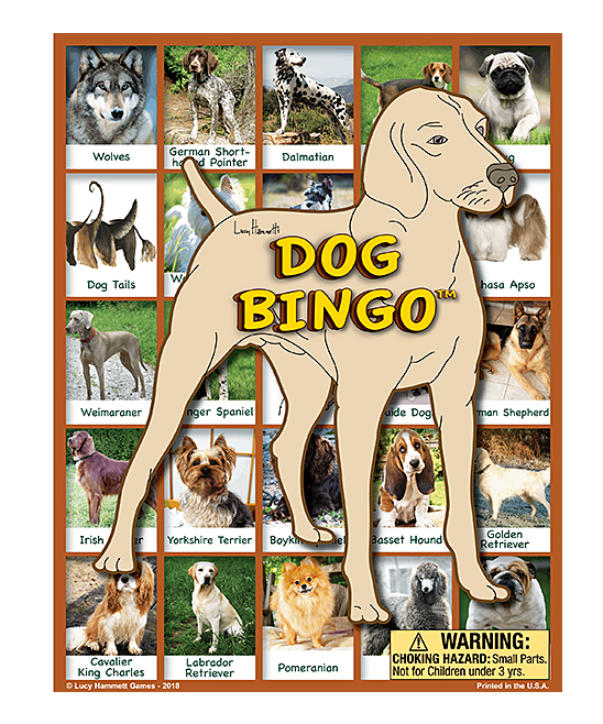 Lucy Hammett Games  Board Games  - Dog Bingo Game