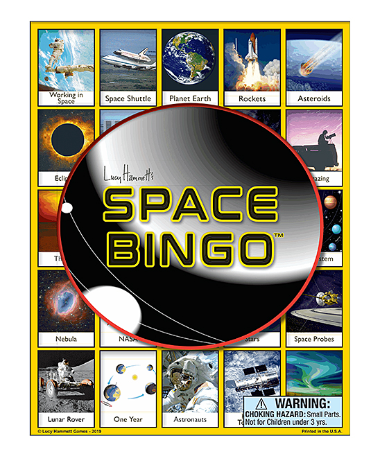 Lucy Hammett Games  Board Games  - Space Bingo Game