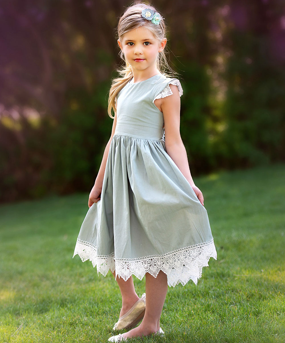 really cheap new images of performance sportswear Think Pink Bows Sage Lace-Hem Alessia Dress - Infant & Toddler ...