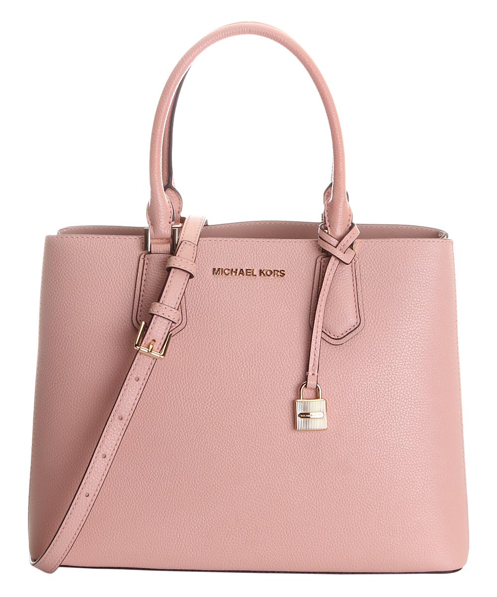 e7d547ca39d6 Michael Kors Pastel Pink & Ballet Adele Leather Convertible Tote