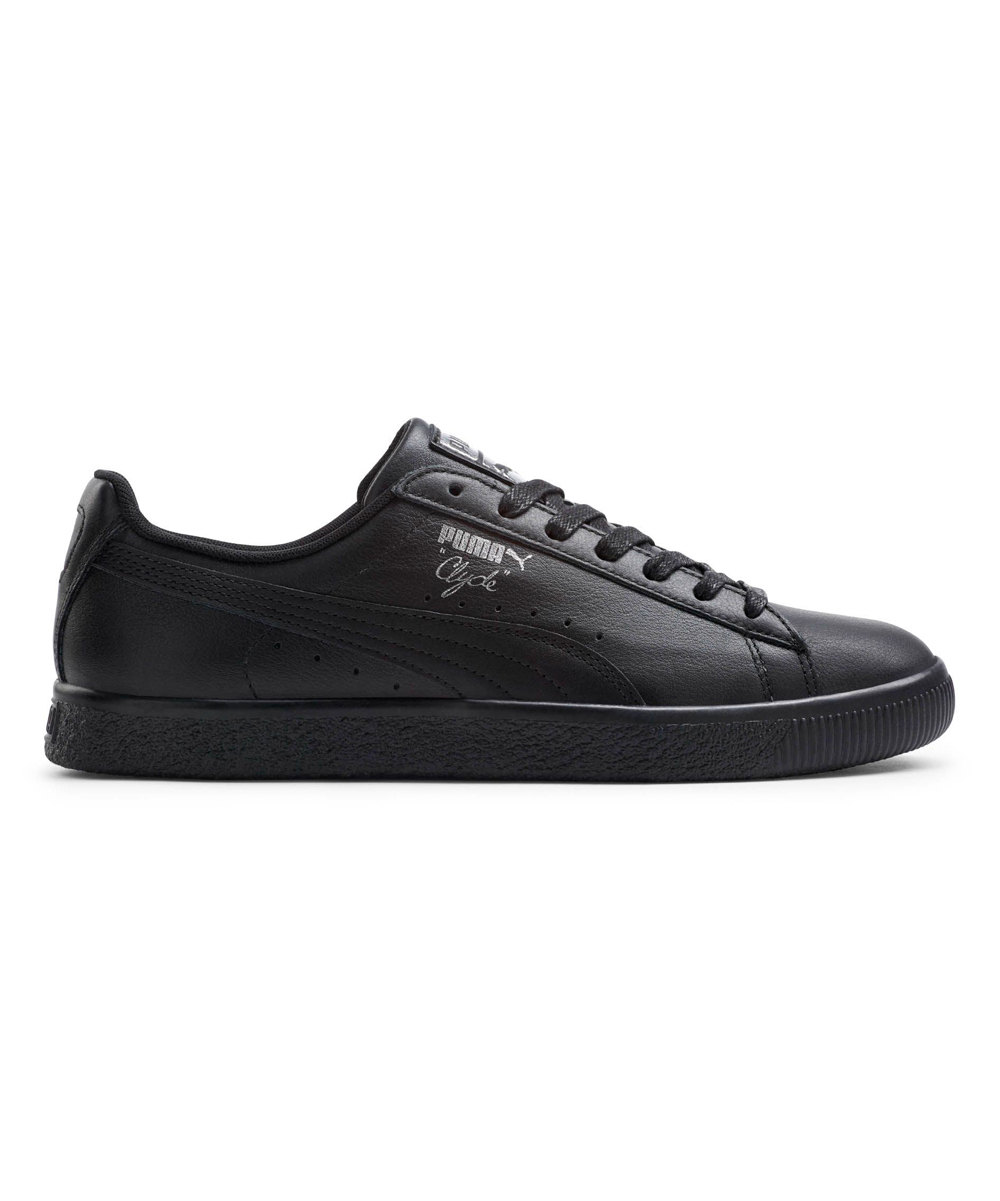 1b6237558142 love this product Black   Silver Clyde Core L Foil Leather Sneaker - Men