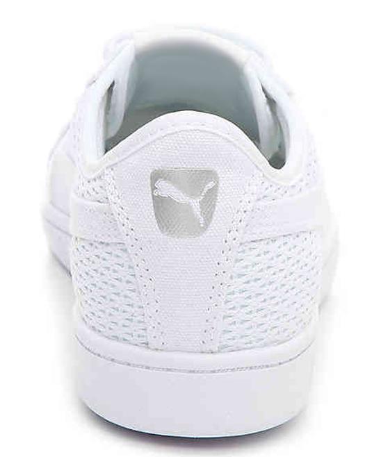 8966d7d1d06 ... Womens PUMA WHITE White Vikky Mesh Sneaker - Alternate Image 3 ...