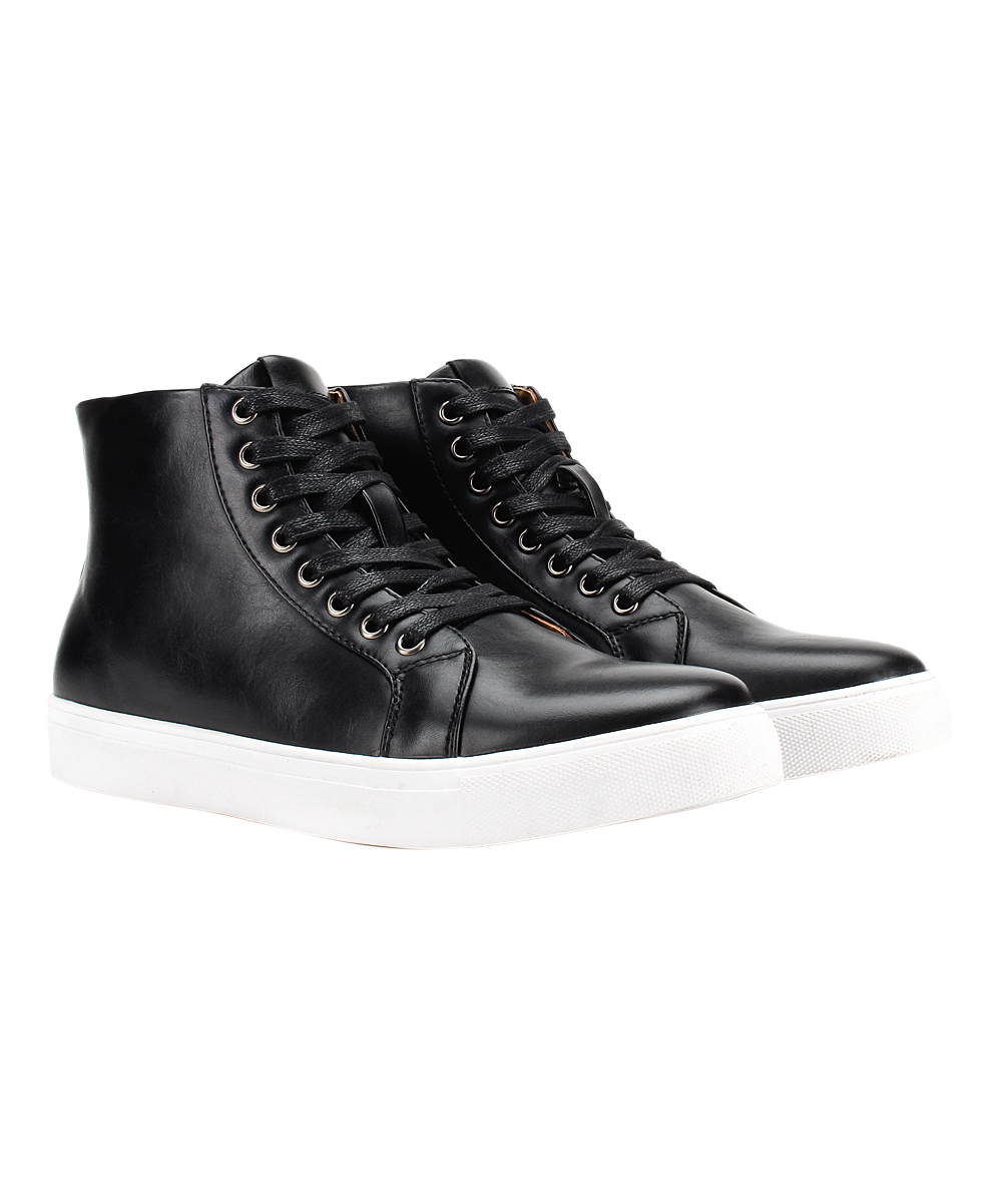 Jaxson Men's Sneakers Black - Black Lace-Up Hi-Top Sneaker - Men